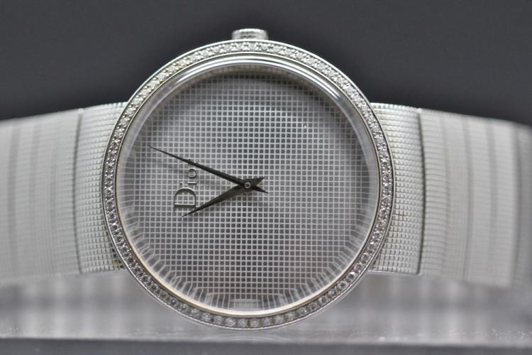 Rare Gent`s Christian Dior Diamond, factory Set Dress Watch - CD043111,RRP £2495, Box & papers