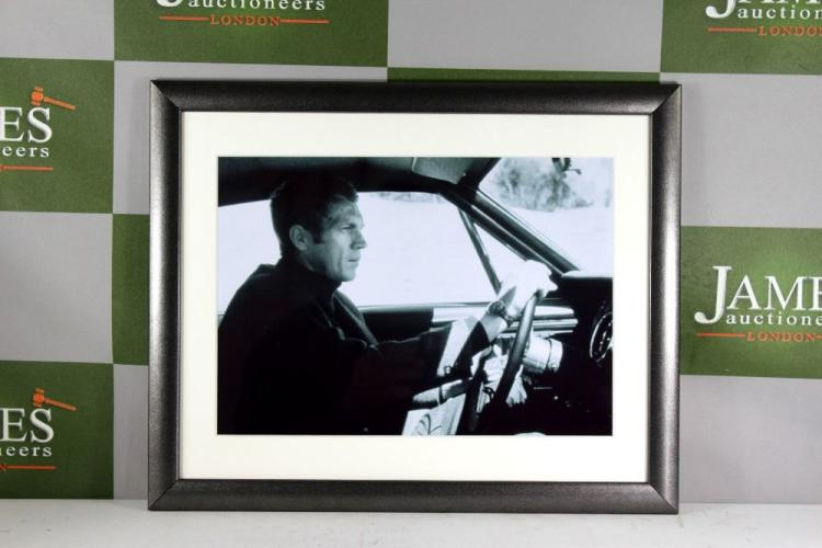 King of Cool Steve Mcqueen Ltd Edition Print From Hall of Fame Le Man 24hr Museum