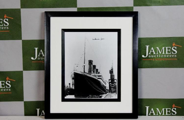 Survivor of the Titanic-Millvina Dean signed framed print, with COA