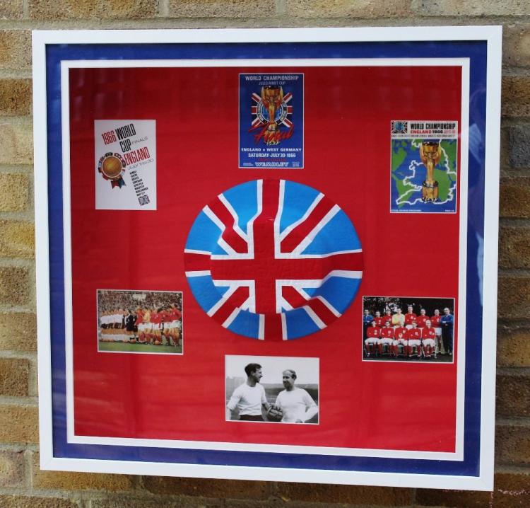 A stunning England world cup 1966 original collection of memorabilia-mint authentic hat, Charlton brothers.