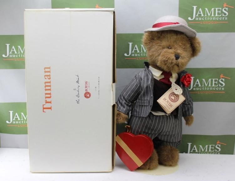 A Boyds Heirloom Series Truman Teddy bear, produced for Danbury Mint, in original box