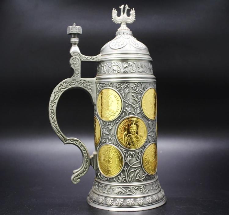 Franklin Mint Kaiserhumpen Stein 200 Jahre Gedenk-Edition,17 Inches tall, weighs over 1kg, gold plated