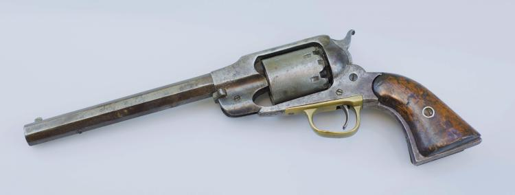 C.S.A. - CONFEDERATE CIVIL WAR RELIC NEW  MODEL REMINGTON ARMY REVOLVER - INSCRIBED ON  THE BUTT STRAP