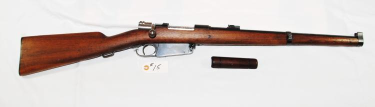 THE M1891 ARGENTINE MAUSER CARBINE SERIAL NUMBER A5581 IS THE