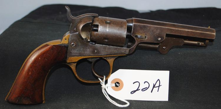 RARE JM COOPER 2ND MODEL .32 CAL POCKET  REVOLVER - SERIAL NUMBER 10394