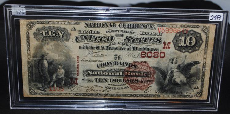 VERY RARE $10 NATIONAL CURRENCY