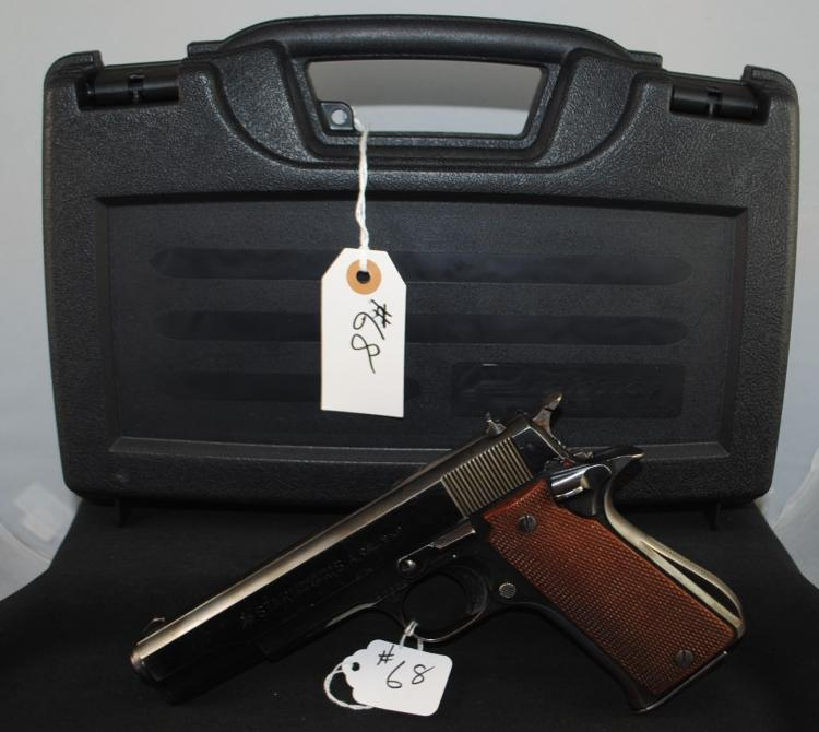 STAR 9MM SUPER B AUTOMATIC PISTOL WITH CASE -  SERIAL NUMBER 48487  1233933 - P.W.  ARMS.REDMOND.WA. WITH CASE AND CLIP