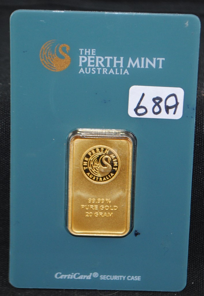 20 GRAM 99.99% PURE GOLD - PERTH MINT - AUSTRALIA