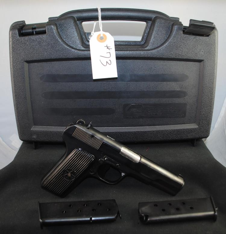 CUGIR, ROMANIA MOD. TT-C 7.62 X 25 MM PISTOL - PS1455 1953 WITH CASE AND TWO CLIPS