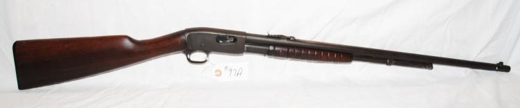 REMINGTON .22 CAL PUMP ACTION RIFLE -  SHOOTING GALLERY CLASSIC - GOOD FUNCTION -  DARK PATINA - WOOD IN GOOD SHAPE FOR AGE -  SERIAL # 382477