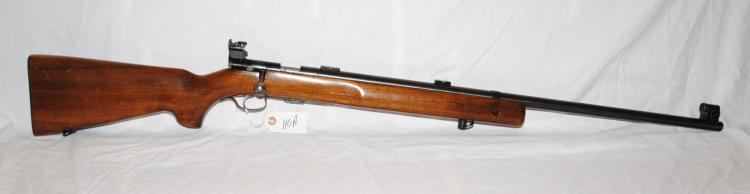 WINCHESTER MODEL 75 .22 CAL BOLT ACTION RIFLE  - LYMAN SIGHT - NICE SHAPE EXCELLENT SHOOTER  - 28 INCH BARREL - MILITARY PROOF MARKS -  MFG 1948 - SERIAL # 46737