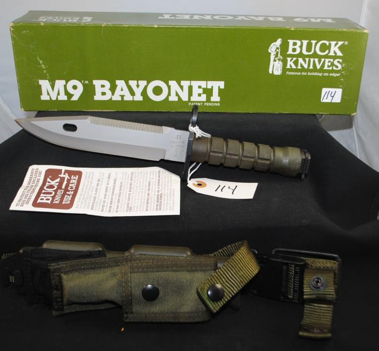 BUCK M9 BAYONET IN ORIGINAL BOX