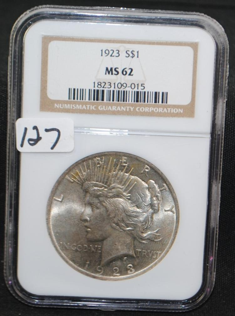 1923 PEACE DOLLAR - NGC MS62