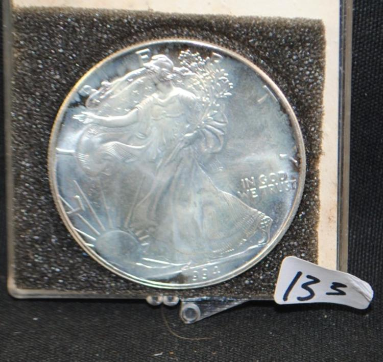 KEY DATE 1994 1 OZ AMERICAN SILVER EAGLE - THE CURRENT COIN WORLD TRENDS LISTS AT $95.00
