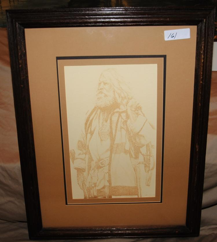 FRAMED DRAWING OF