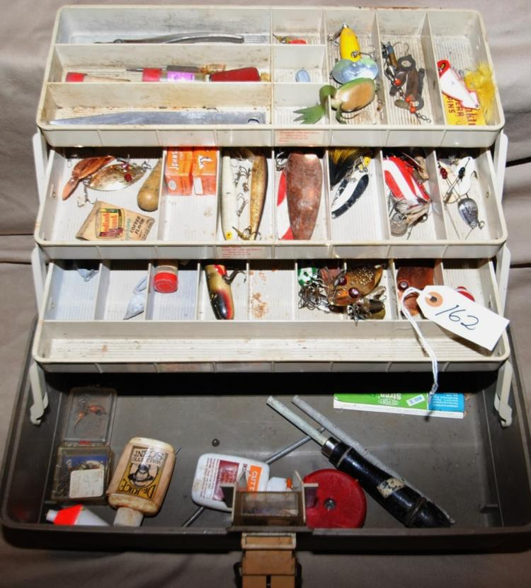 PLANO TACKLE BOX FULL OF FISHING TACKLE