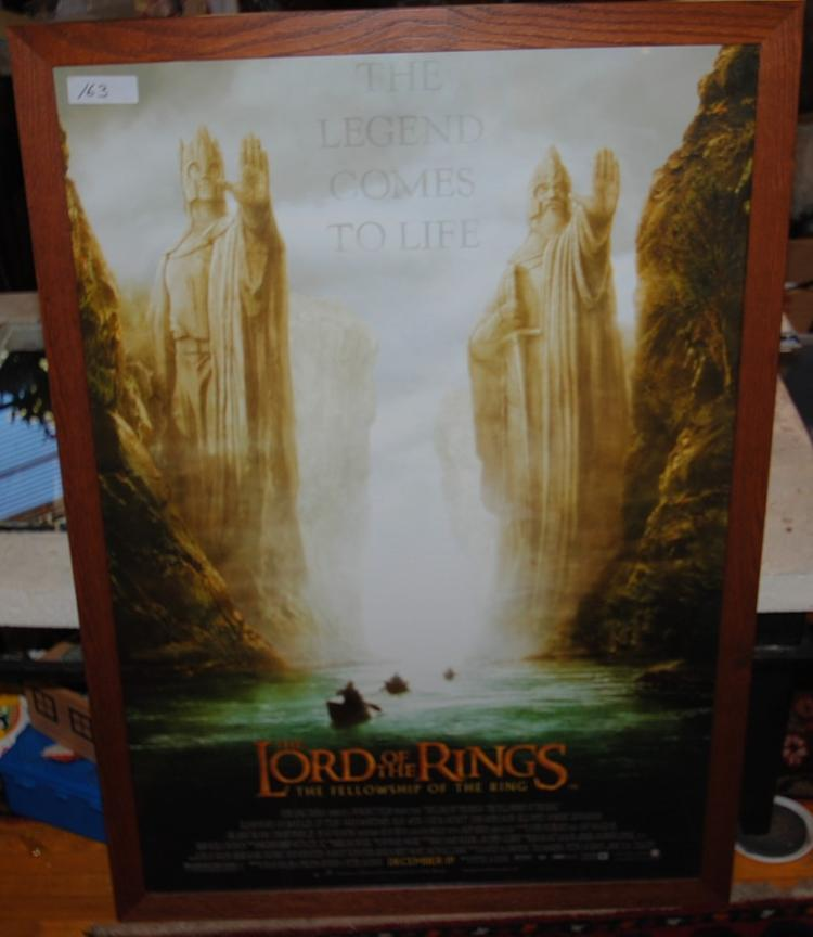 LORD OF THE RINGS FRAMED POSTER - FELLOWSHIP  OF THE RING