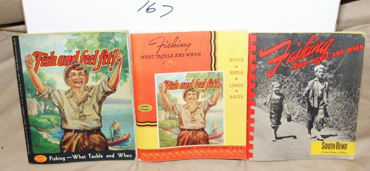 VINTAGE BOOKLETS ABOUT FISHING 1939 SOUTHBEND CATALOG (128 PAGES), 1947 SOUTHBEND CATALOG (44 PAGES), 1935 SOUTHBEND CATALOG (108 PAGES)