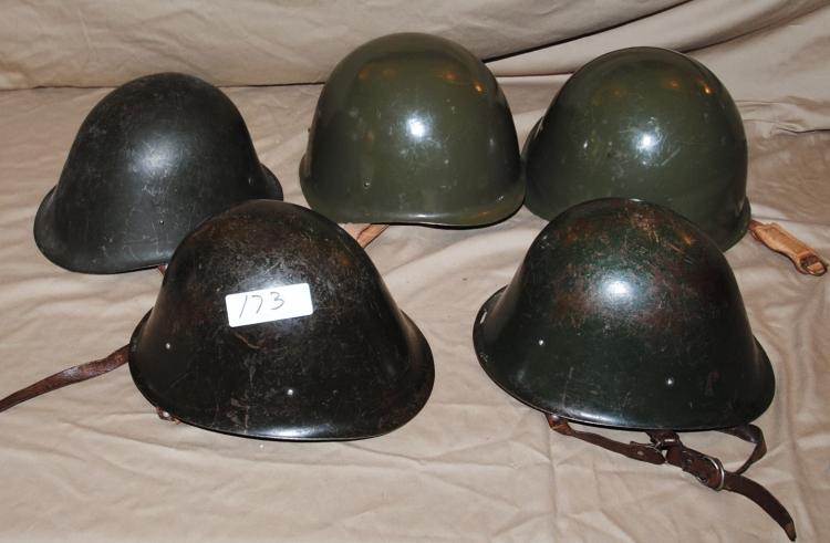 BOX WITH 5 RUSSIAN HELMETS