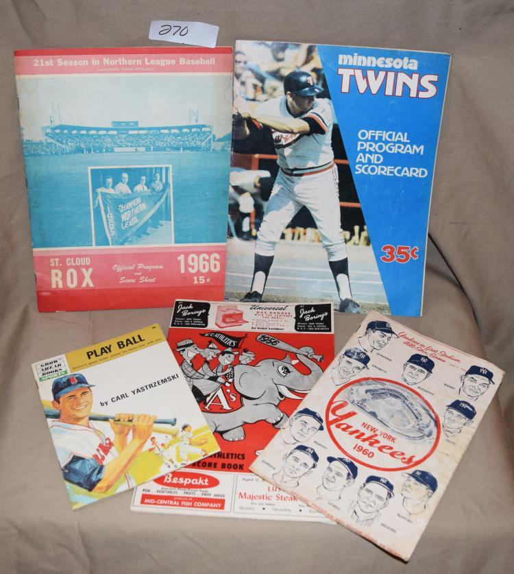 Vintage Baseball Programs 113