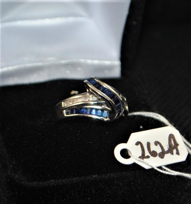Ladies 1 18cttw Sapphire Amp Diamond 10k Gold Ring