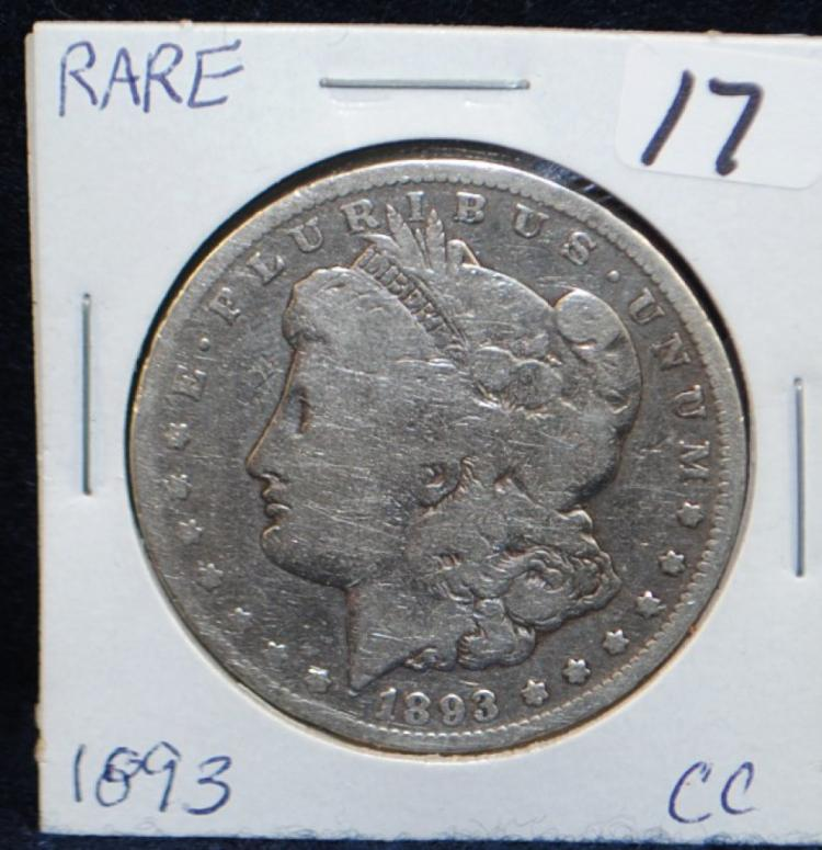 RARE 1893-CC MORGAN DOLLAR FROM SAFE DEPOSIT