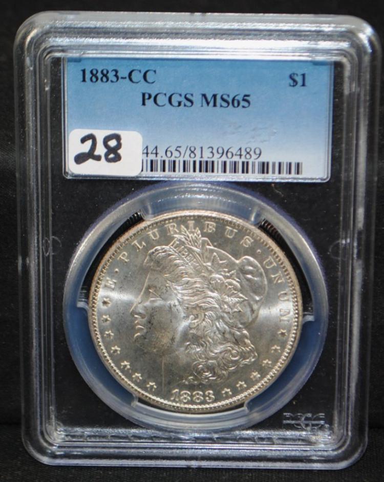 1883-CC MORGAN DOLLAR - PCGS MS65