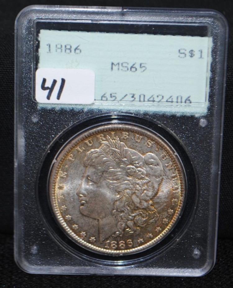 1886 MORGAN DOLLAR - PCGS MS65