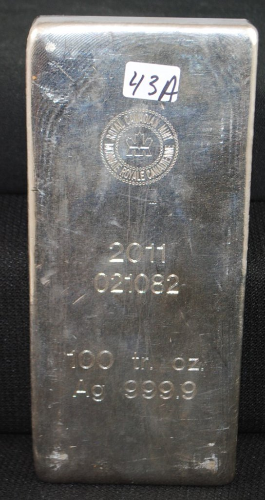 ROYAL CANADIAN MINT 100 TROY OZ 999.9 SILVER BAR