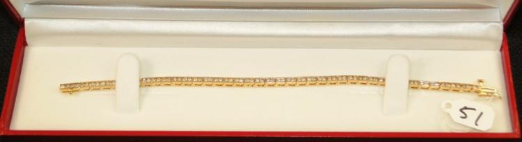 LADIES 14K YELLOW GOLD 1.50CTW DIAMOND BRACELET