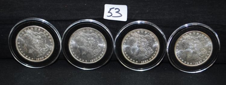 4 HIGH GRADE GEM UNCIRCULATED MORGAN DOLLARS