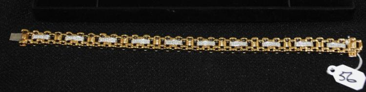 LADIES .75CTTW 10K YELLOW GOLD TENNIS BRACELET
