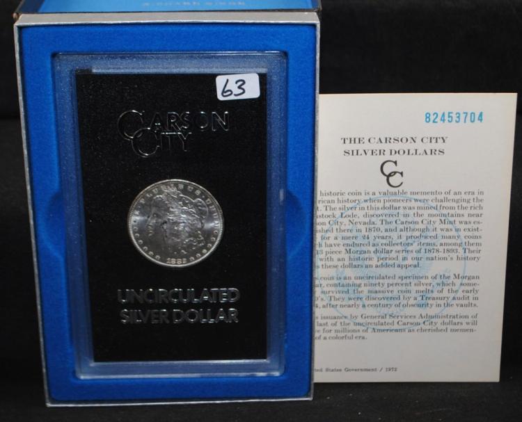 1882-CC GSA BLACK BOX MORGAN DOLLAR