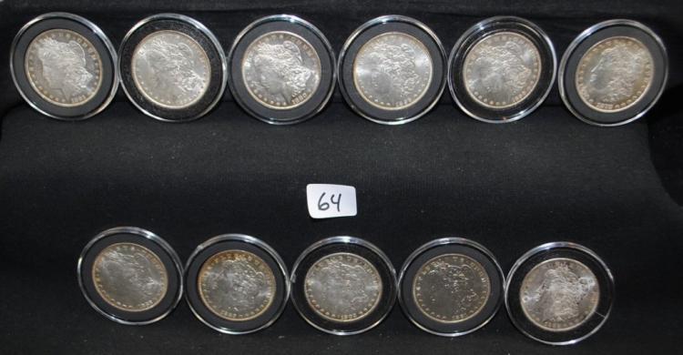 11 PRE 1904 XF/AU MORGAN DOLLARS FROM SAFE DEPOSIT