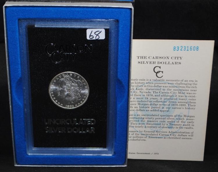 1883-CC GSA BLACK BOX MORGAN DOLLAR