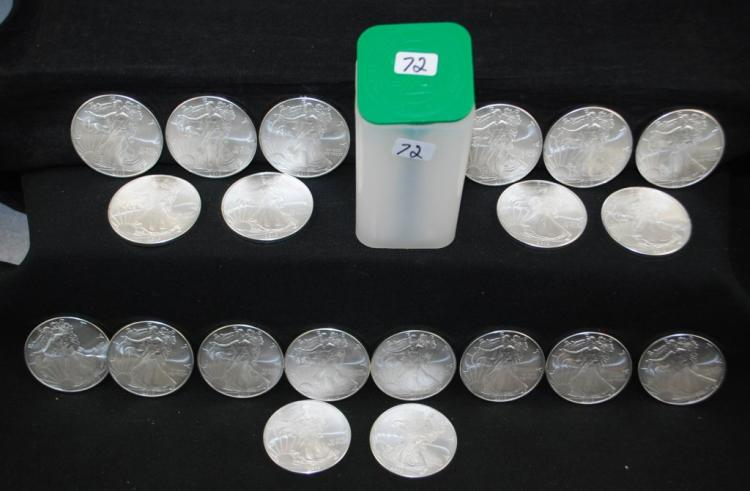 ROLL OF 20 2010 ONE OZ AMERICAN SILVER EAGLES