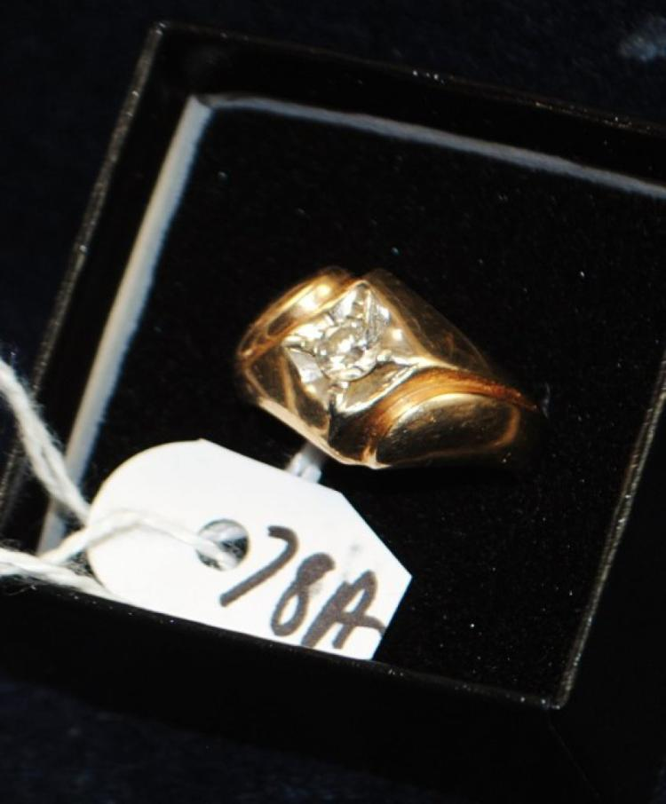 14K (STAMPED) YELLOW GOLD DIAMOND FASHION RING. THE RING IS PRONG SET WITH (1) 4.4MM ROUND FULL CUT DIAMOND FOR A TOTAL CARAT WEIGHT OF .33CT. THE .33CT DIAMOND IS I IN COLOR AND I2 IN CLARITY. ALL GEMSTONES WERE GRADED WHILE SET IN THE MOUNTING AND CARAT WEIGHTS CALCULATED BY FORMULA. TOTAL METAL WEIGHT WITH GENSTONES: 7.0 GRAMS. THE TOTAL RETAIL REPLACEMENT VALUE: $1,750.00. AND COMES WITH THE APPRAISAL FOR INSURANCE PURPOSES.