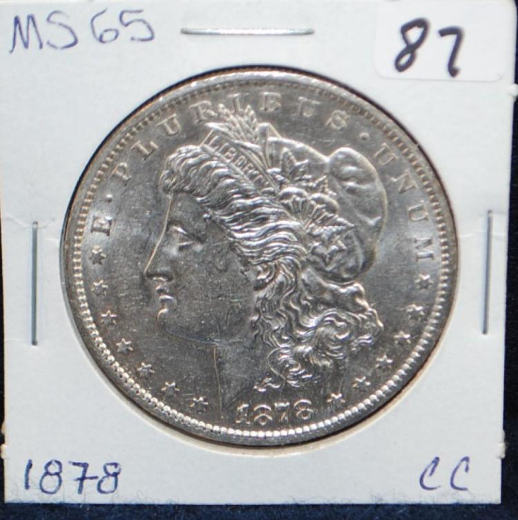 KEY 1878-CC MORGAN DOLLAR FROM SAFE DEPOSIT