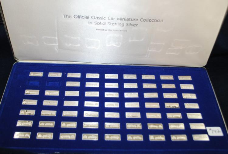 OFFICIAL CLASSIC CAR MINIATURE COLLECTION - SILVER