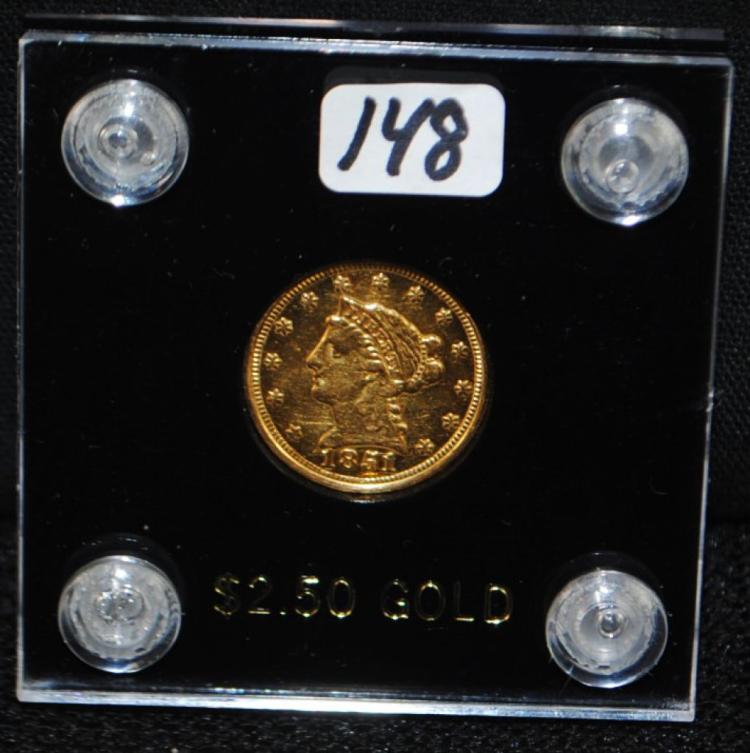1851 $2 1/2 LIBERTY GOLD COIN FROM SAFE DEPOSIT
