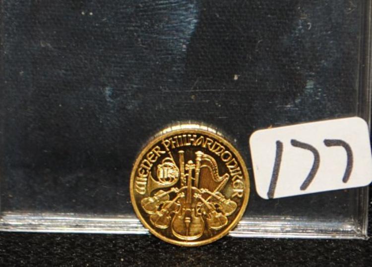 2009 10 EURO 1/10TH AUSTRIA PHILHARMONIC GOLD COIN