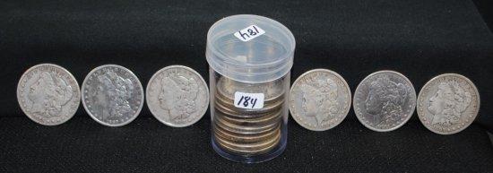 ROLL OF 20 VG/XF MORGAN DOLLARS FROM SAFE DEPOSIT
