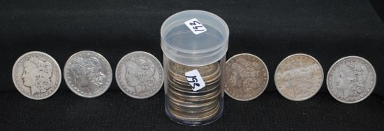 ROLL OF 20 MORGAN DOLLARS FROM SAFE DEPOSIT