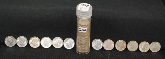 ROLL OF 50 CHOICE UNC 1946-D ROOSEVELT DIMES