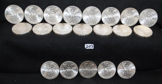 20 1983 .999 SILVER MEXICAN SILVER DOLLARS