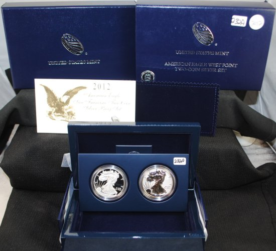 2012 TWO-COIN AMERICAN EAGLE WEST POINT SET