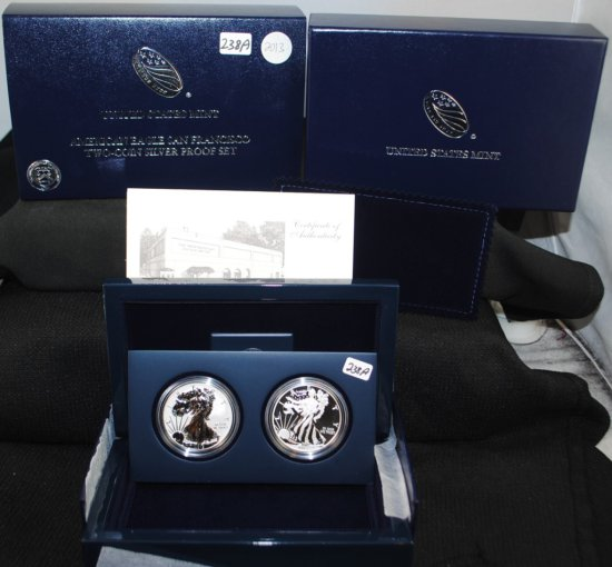 2013 TWO-COIN AMERICAN SILVER EAGLE PROOF SET