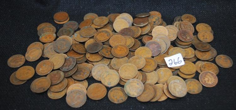 198 INDIAN HEAD CENTS FROM SAFE DEPOSIT