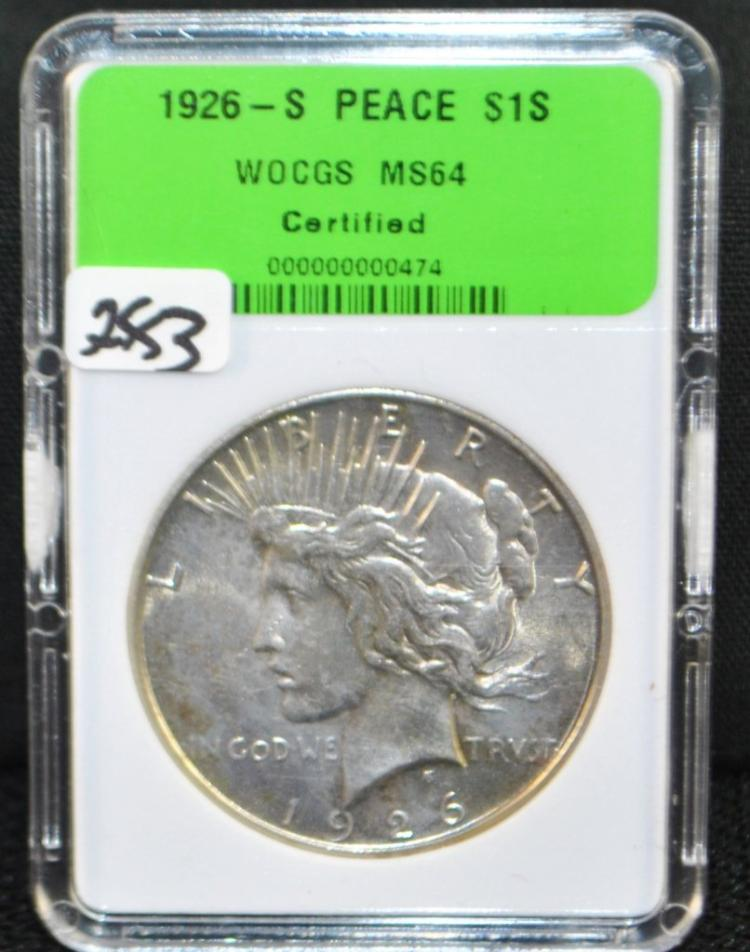 1926-S PEACE DOLLAR FROM SAFE DEPOSIT