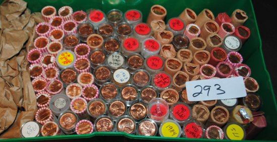 100 ROLLS OF CHOICE UNC LINCOLN CENTS